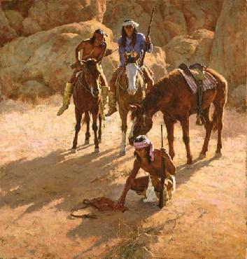 Howard Terpning Missing Dispatch Case Giclee on Canvas