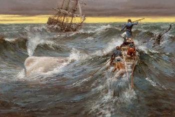 Andy Thomas Moby Dick Grande Edition Giclee on Canvas