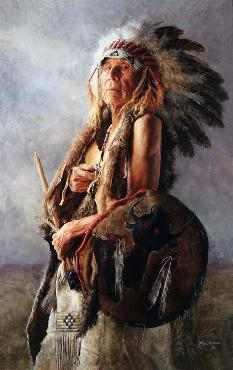 John Coleman Monarch of the Buffalo Nation Giclee on Canvas
