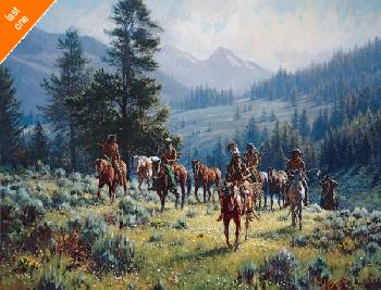 Martin Grelle Monarchs of the North Giclee on Canvas LAST ONE!