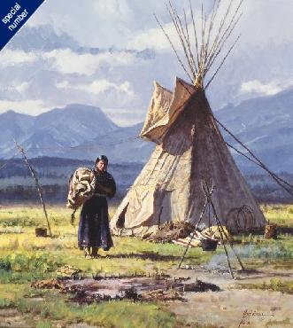 Martin Grelle Morning Chores Print #1/65 Giclee on Canvas