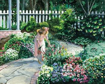 April Yost Morning Garden Canvas Edition