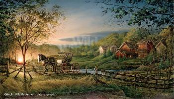 Terry Redlin Morning Rounds Dr. Series