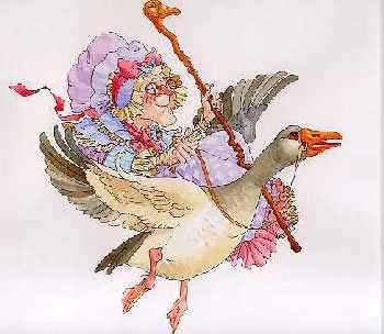 James Christensen Mother Goose Hand Highlighted Etching