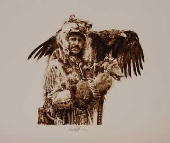 Paul Calle Mountain Man North American Portfolio Lithograph