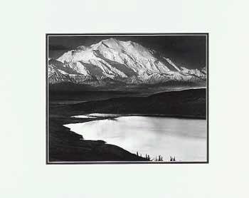 Ansel Adams Mount McKinley and Wonder Lake LG Matted