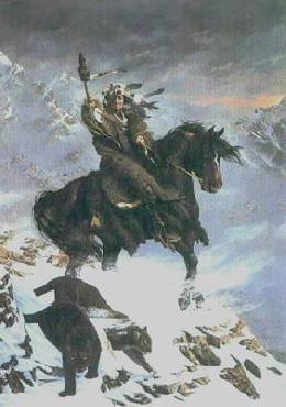 Hermon Adams Mudjekeewis - The West Wind