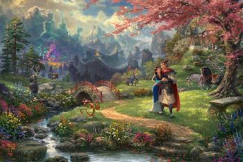 Thomas Kinkade Mulan - Blossoms of Love SN Paper