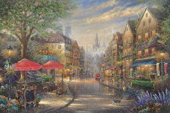 Thomas Kinkade Munich Cafe SN Canvas