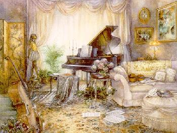 Lena Liu Music Room VII Canvas