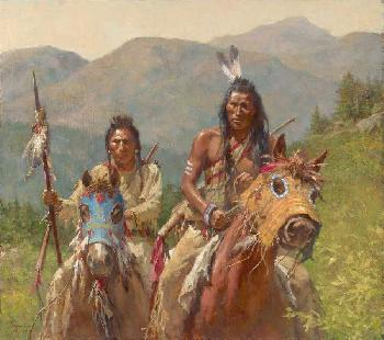 Howard Terpning Mystery of the Crow Medicine Horse Masks Artist