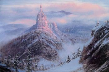 Peter Ellenshaw Mystical Kingdom of the Beast Giclee on Canvas