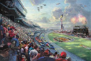 Thomas Kinkade NASCAR Thunder SN Paper
