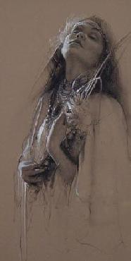 Lee Bogle Native Bride Study Giclee on Canvas