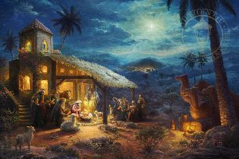 Thomas Kinkade Nativity SN Paper