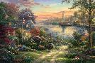 Thomas Kinkade New England Harbor