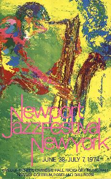 LeRoy Neiman Newport Jazz Festival New York 1974 Hand Signed by LeRoy Neiman