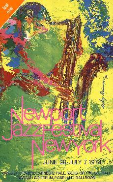 LeRoy Neiman Newport Jazz Festival New York 1974 Out of Print - Last Ones!