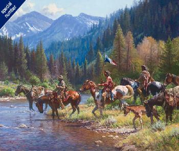 Martin Grelle New Wealth for the Blackfeet Print #1/150 Giclee on Canvas
