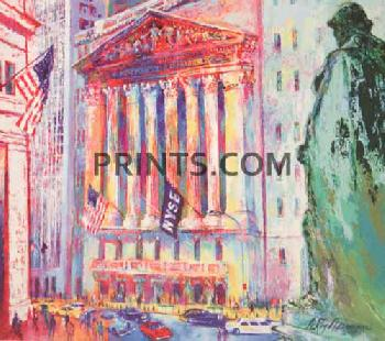 LeRoy Neiman New York Stock Exchange Hand Pulled Serigraph