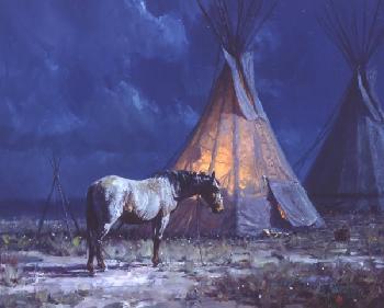 Martin Grelle Night Glow Giclee on Canvas