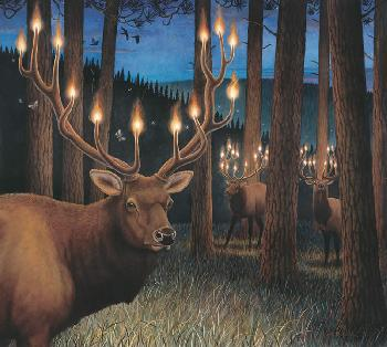 Monte Dolack Northern Lights Giclee on Paper