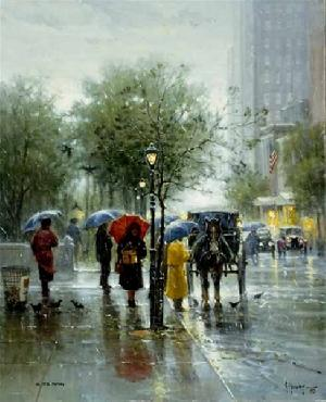 G. Harvey October Showers Serigraph Canvas