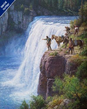 Martin Grelle Offerings to the Spirit in the Falls Print #1/150 Giclee on Canvas