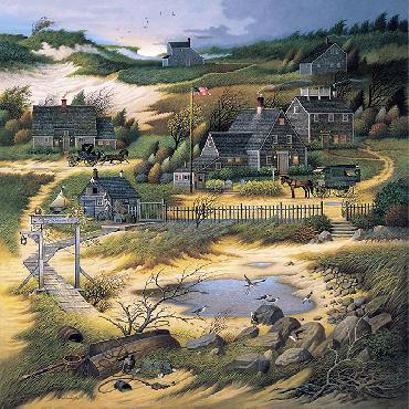 Charles Wysocki Olde Nantucket Canvas