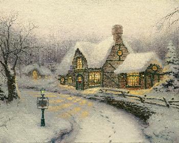Thomas Kinkade Olde Porterfield Gift Shoppe SN Paper