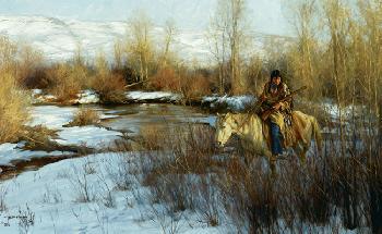 Robert Duncan Old Tracks Giclee on Canvas