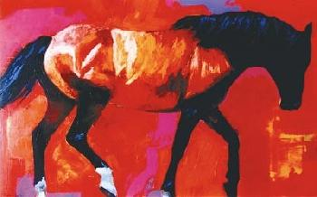Daryl Poulin One Horse Giclee on Canvas