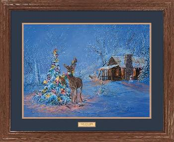 Valeria Yost Once Upon a Time - Deer Caught in Christmas Tree Framed