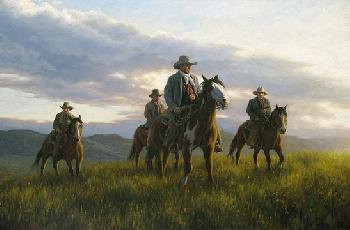Robert Duncan Open Range Giclee on Canvas