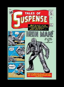 Stan Lee Origins: Iron Man Tales of Suspense #39 Giclee on Canvas