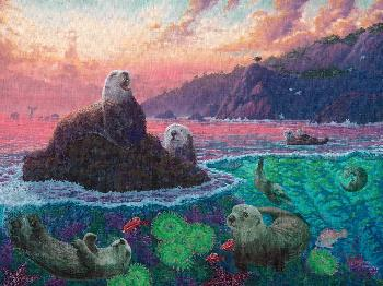 Zachary Kinkade Otterly Ridiculous Gallery Proof Canvas