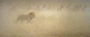 Robert Bateman Out Of Range Giclee on Canvas