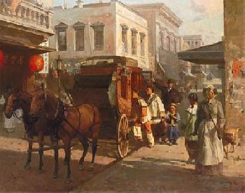 Mian Situ Pacific Carriage Co, San Francisco, 1905 Giclee on Canvas