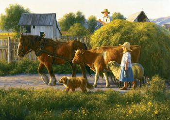Robert Duncan Passing Parade Giclee on Canvas