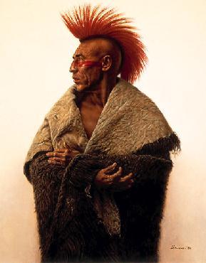 James Bama Pawnee Giclee on Canvas