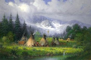 G. Harvey Peaceful Encampment Artist