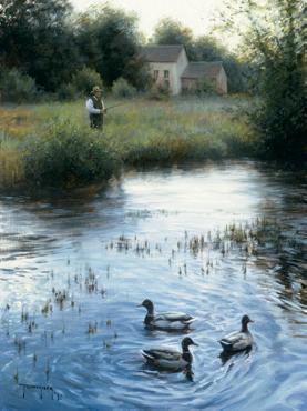 Robert Duncan Peaceful Evening Giclee on Canvas