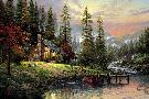 Thomas Kinkade Peaceful Retreat