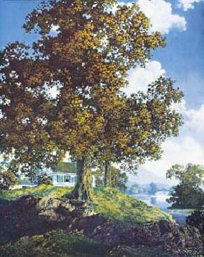 Maxfield Parrish Peaceful Valley