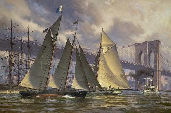 Don Demers Phantom, Outbound from New York, c 1890 Print #1/75 Giclee on Canvas