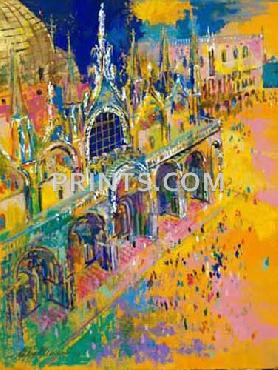 LeRoy Neiman Piazza San Marco Hand Pulled Serigraph
