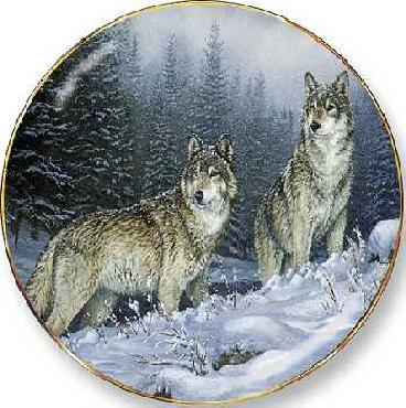 Rosemary Millette Broken Silence - Wolves Collector Plate