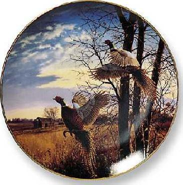 David Maass Evening Flight - Pheasants Collector Plate