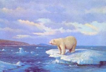 Owen Gromme Polar Bear - Hudson Bay Artist