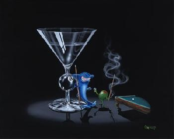 Michael Godard Pool Shark Giclee on Canvas
